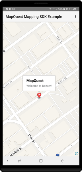 MapQuest Android SDK - Markers | MapQuest API Documentation