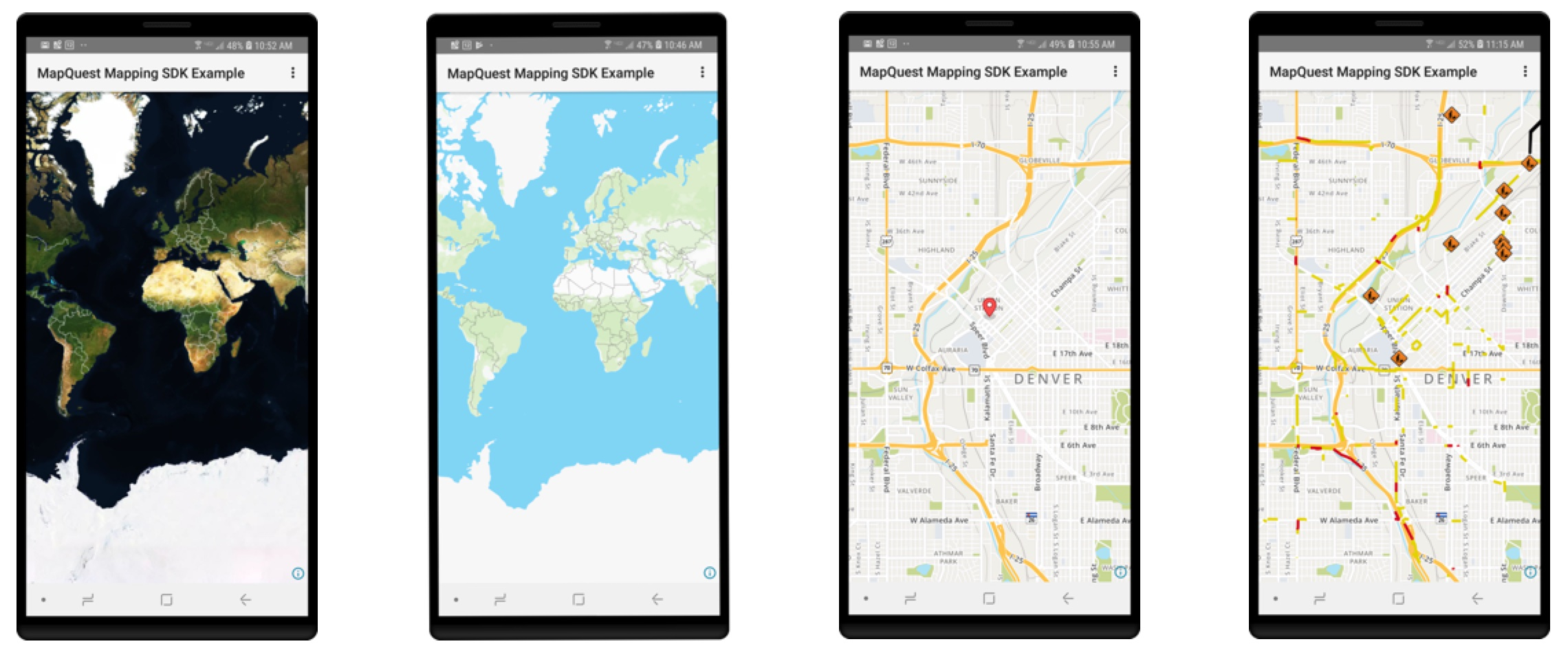 Android Phones with MapQuest Maps