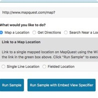 Link to MapQuest Tool